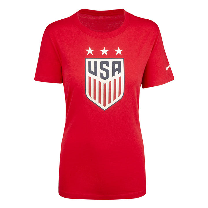 WOMENS USA NIKE 3-STAR CREST SS TEE - RED