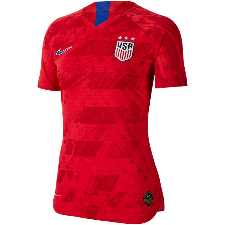 WOMENS USA NIKE 3-STAR VAPOR MATCH AWAY JERSEY - RED