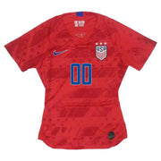 PERSONALIZED WOMEN'S NIKE USA WNT BREATHE STADIUM RED AWAY JERSEY