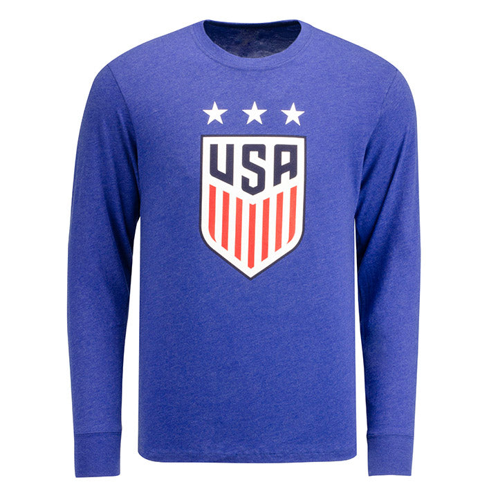 MEN'S 47 3-STAR CREST CLUB L/S T - NAVY