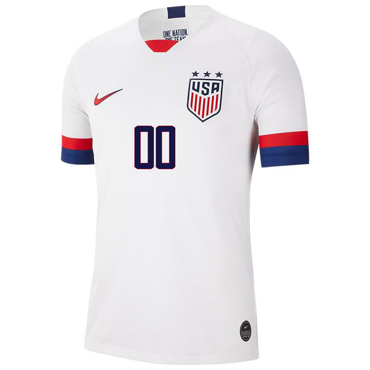 PERSONALIZED MEN'S NIKE USA BREATHE 3-STAR STADIUM HOME JERSEY - WHITE