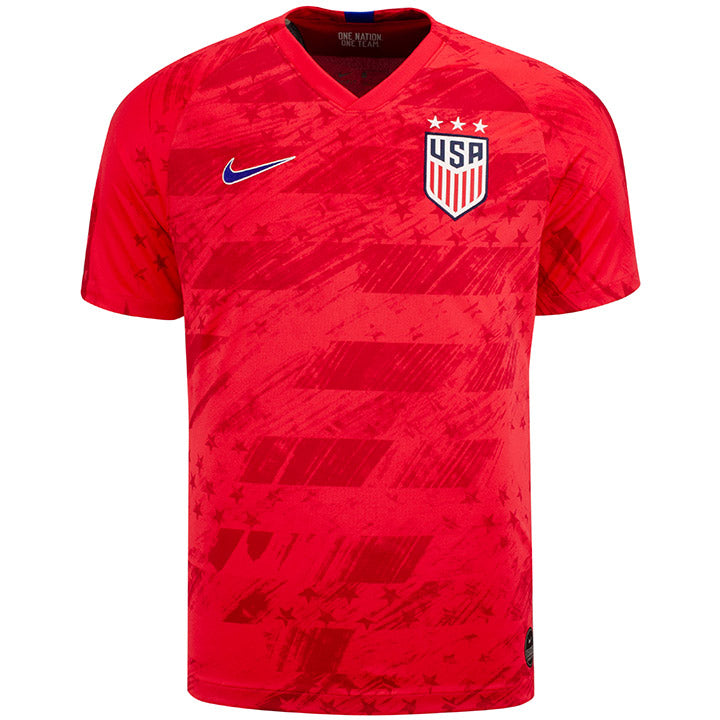MENS NIKE USA BREATHE STADIUM MORGAN 13 AWAY JERSEY - RED