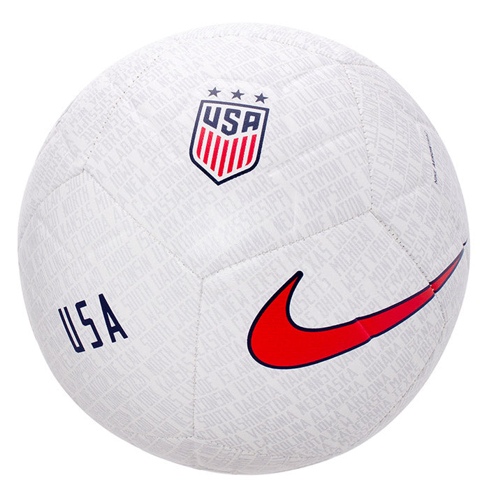 NIKE USA STRIKE SOCCER BALL SIZE 5 - WHITE