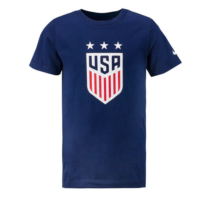 YOUTH USA NIKE 3-STAR CREST SS TEE - NAVY
