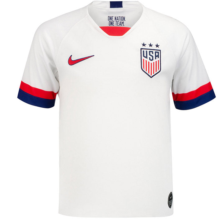 YOUTH NIKE USA 3-STAR BREATHE STADIUM MORGAN 13 HOME JERSEY - WHITE