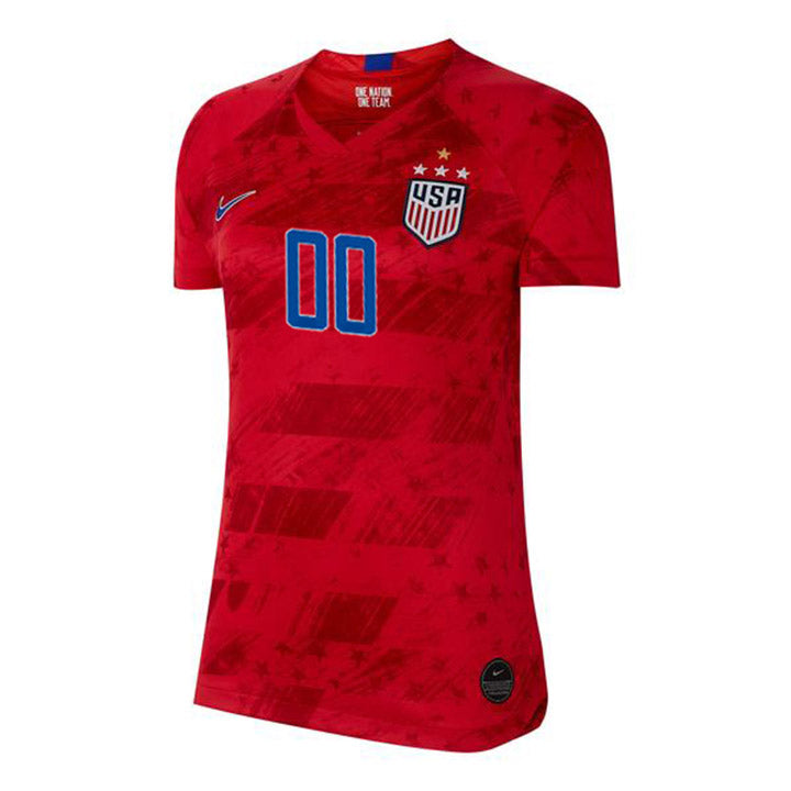 PERSONALIZED WOMEN'S NIKE WNT USA BREATHE STADIUM RED AWAY JERSEY