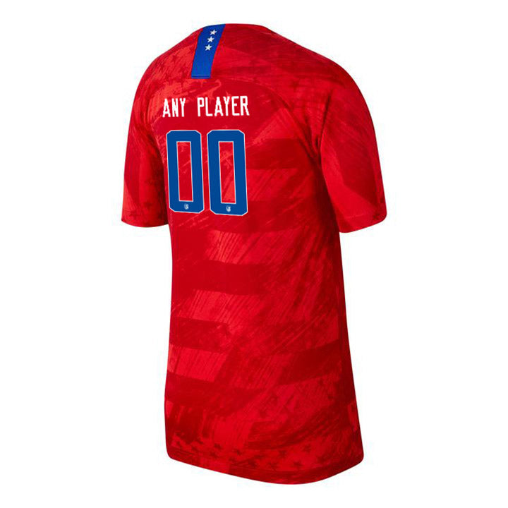 PLAYER YOUTH NIKE USA WNT BREATHE 4-STAR STADIUM RED AWAY JERSEY