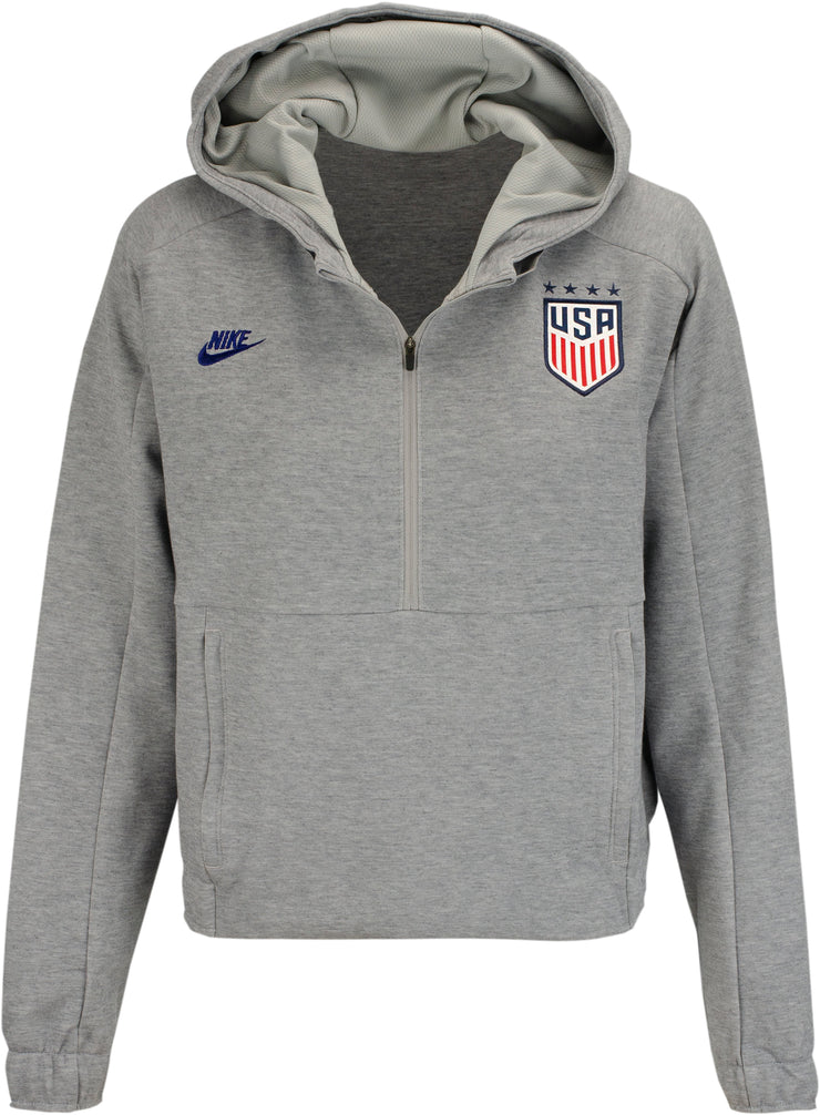 WOMEN'S NIKE WNT USA CROPPED 1/2 ZIP HOODIE