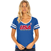 WOMENS 5TH & OCEAN WNT USA TEE