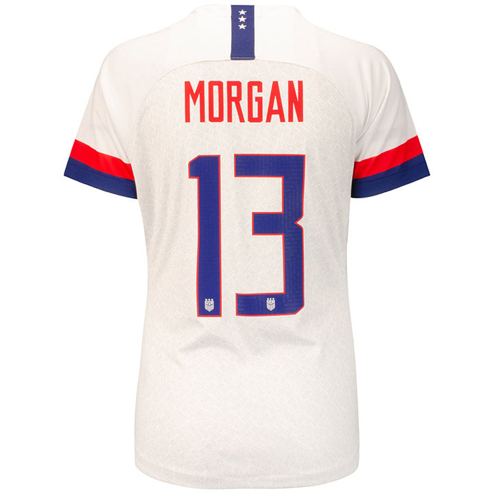 WOMEN'S NIKE USA 4-STAR BREATHE STADIUM MORGAN 13 HOME JERSEY - WHITE