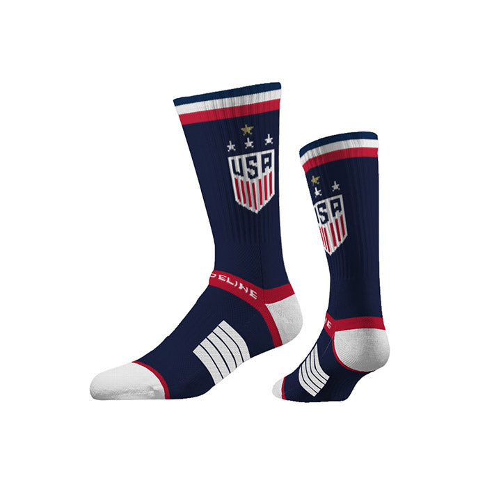 STRIDELINE WNT PREMIUM KNIT CREW SOCK NAVY BLUE