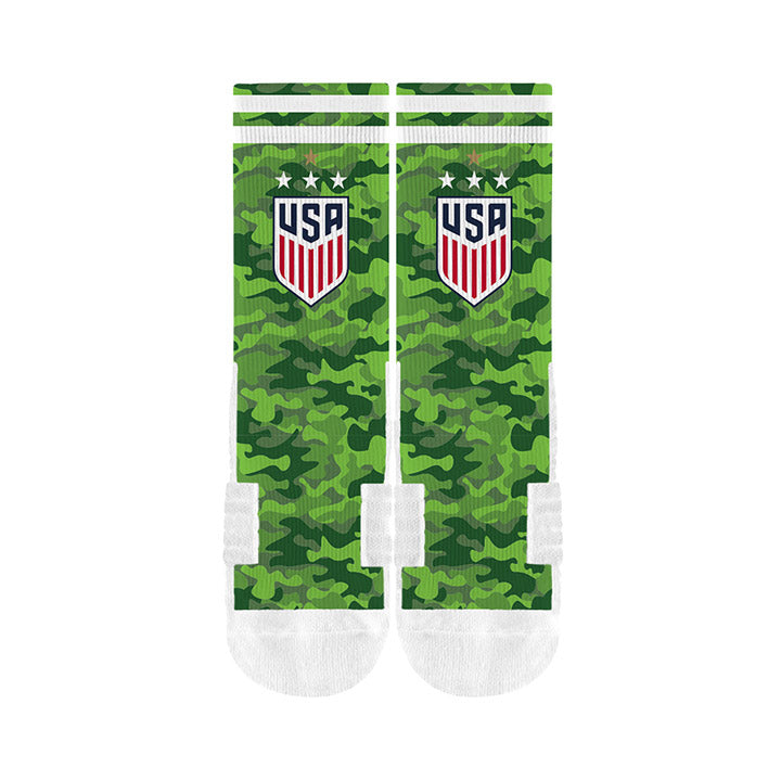 STRIDELINE WNT 4STAR CAMO SOCK - GREEN