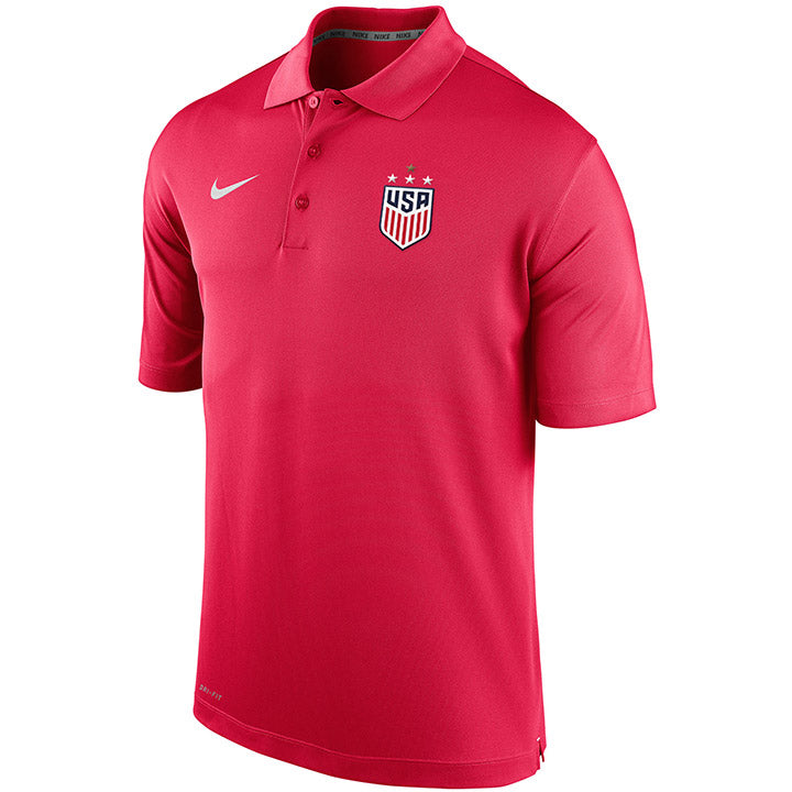 MEN'S NIKE WNT 4-STAR VARSITY POLO - RED