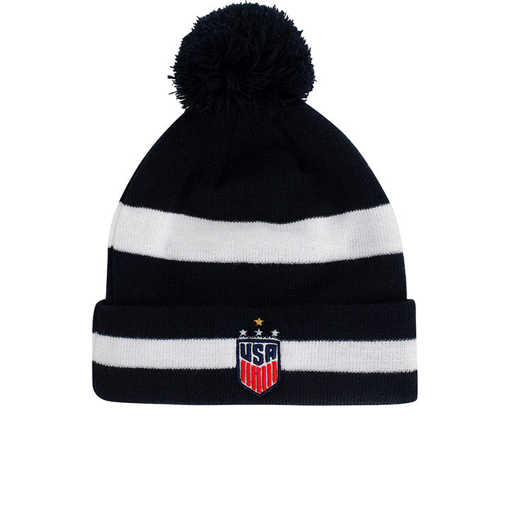 NEW ERA WNT 4STAR STRIPED POM KNIT