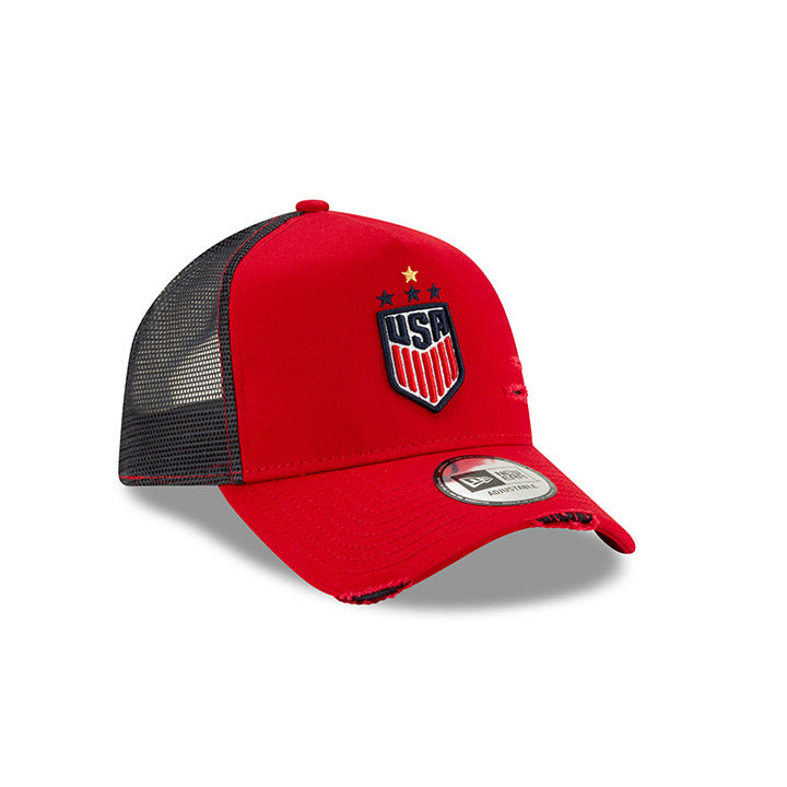 New Era WNT 940 Distressed Trucker Cap