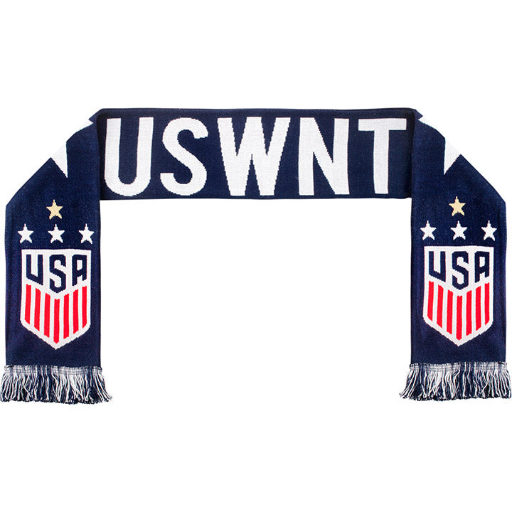 RUFFNECK US WNT 4-STAR BLUE KNIT SCARF