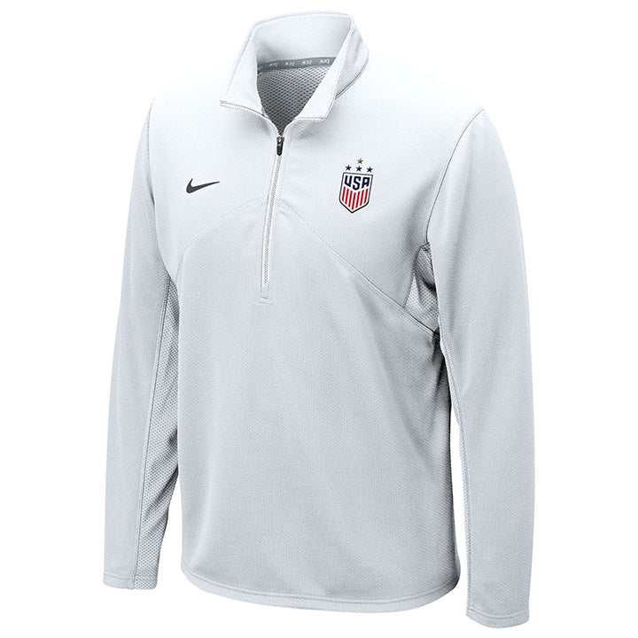 MEN'S NIKE WNT 4STAR DRIFIT COTTON TRAINING 1/4 ZIP TOP