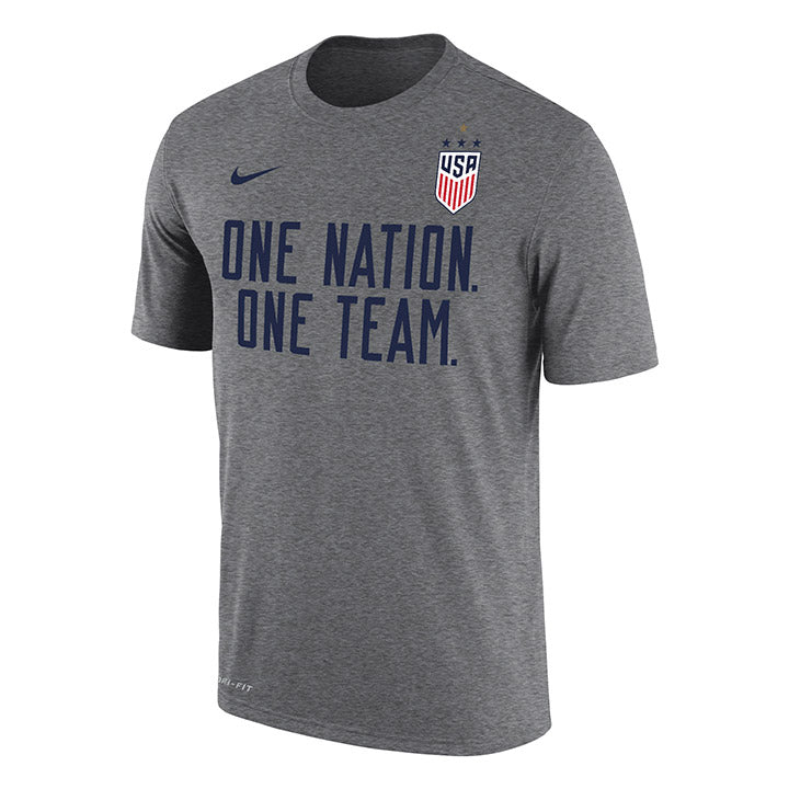 MEN'S NIKE WNT ONE NATION ONE TEAM DRIFIT COTTON TEE