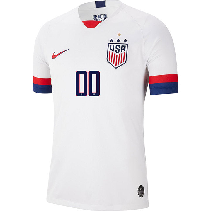 PERSONALIZED MEN'S NIKE USA WNT BREATHE 4-STAR STADIUM WHITE HOME JERSEY