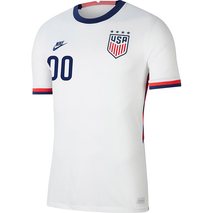Personalized Men's Nike WNT Home White Jersey