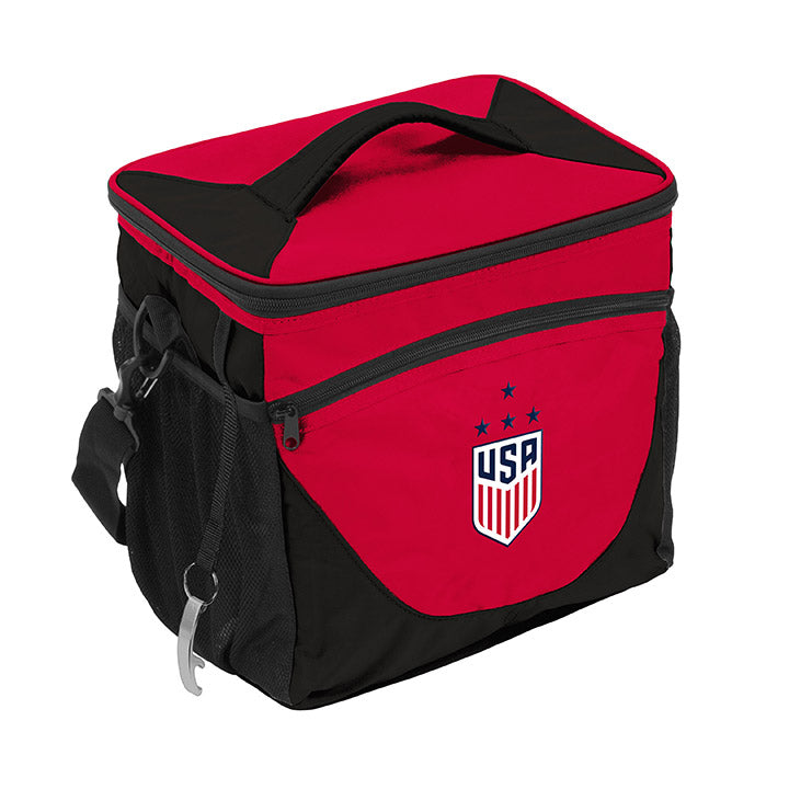 LOGO BRANDS WNT 24 CAN COOLER - RED