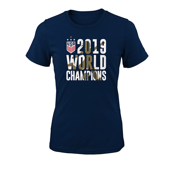 GIRLS OUTERSTUFF WNT CHAMPIONS RUN TEE