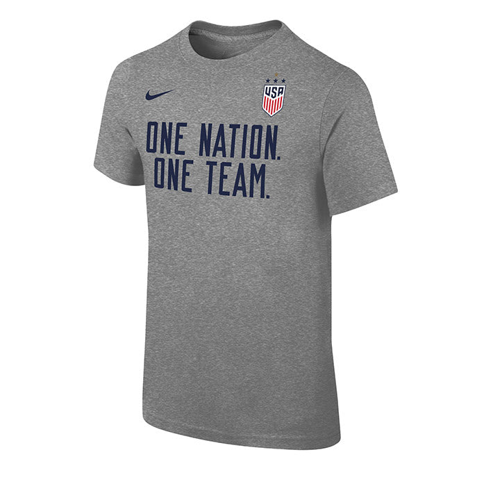 YOUTH NIKE WNT 4STAR ONE NATION ONE TEAM CORE TEE