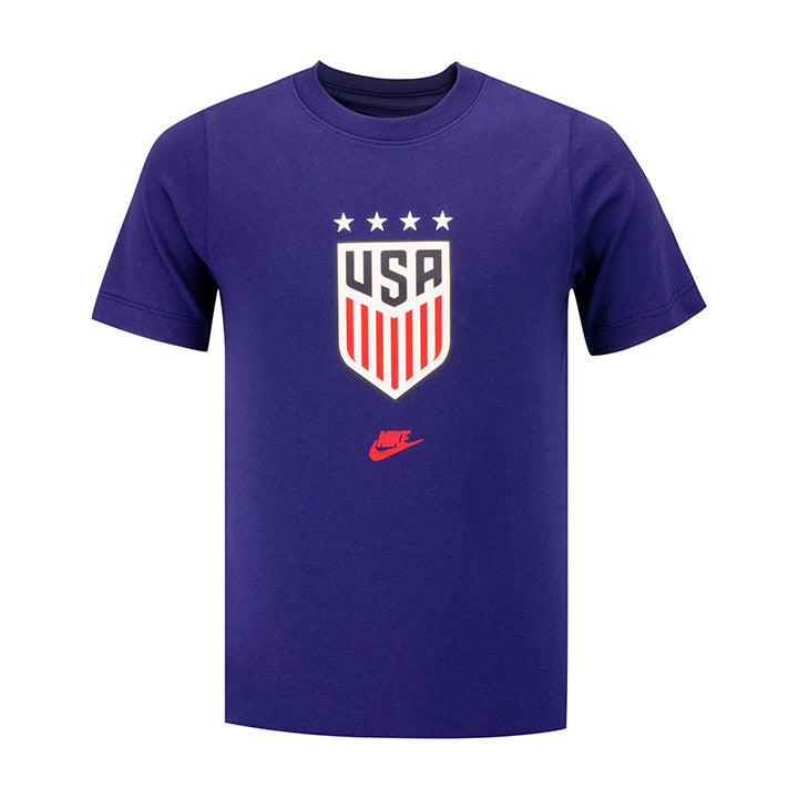Youth Nike WNT Blue Crest Tee
