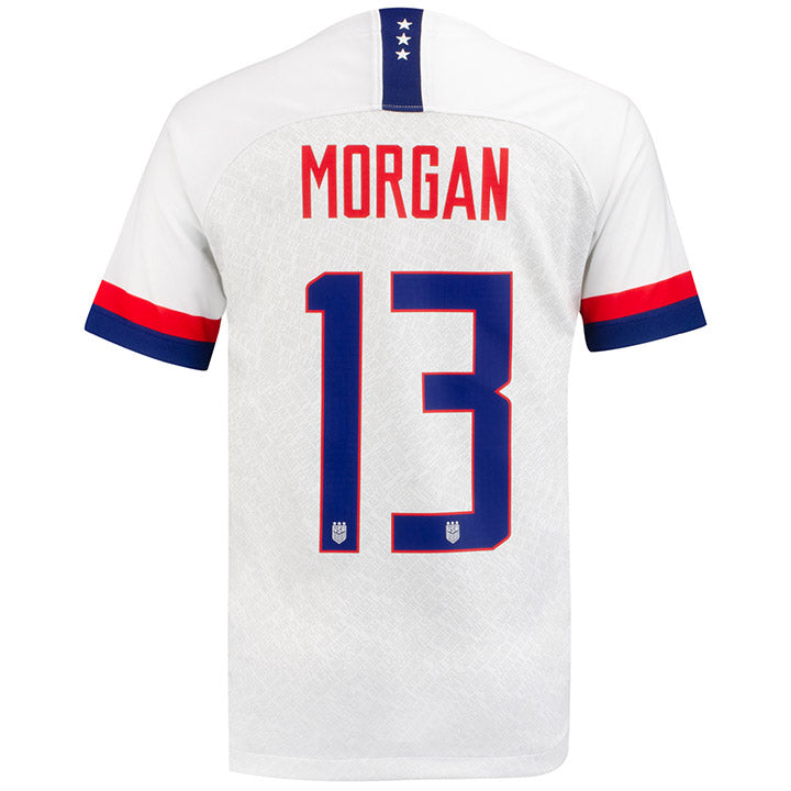 YOUTH NIKE USA 4-STAR BREATHE STADIUM MORGAN 13 HOME JERSEY - WHITE
