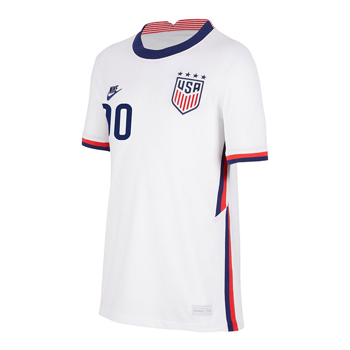 Personalized Youth Nike WNT Home White Jersey