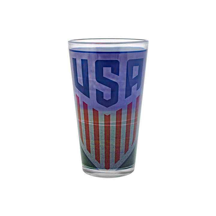BOELTER BRANDS CREST SUBLIMATED SHADOW PINT GLASS