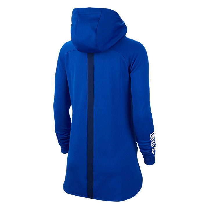 WOMENS USA NIKE SQUAD HOODY PULLOVER - BLUE