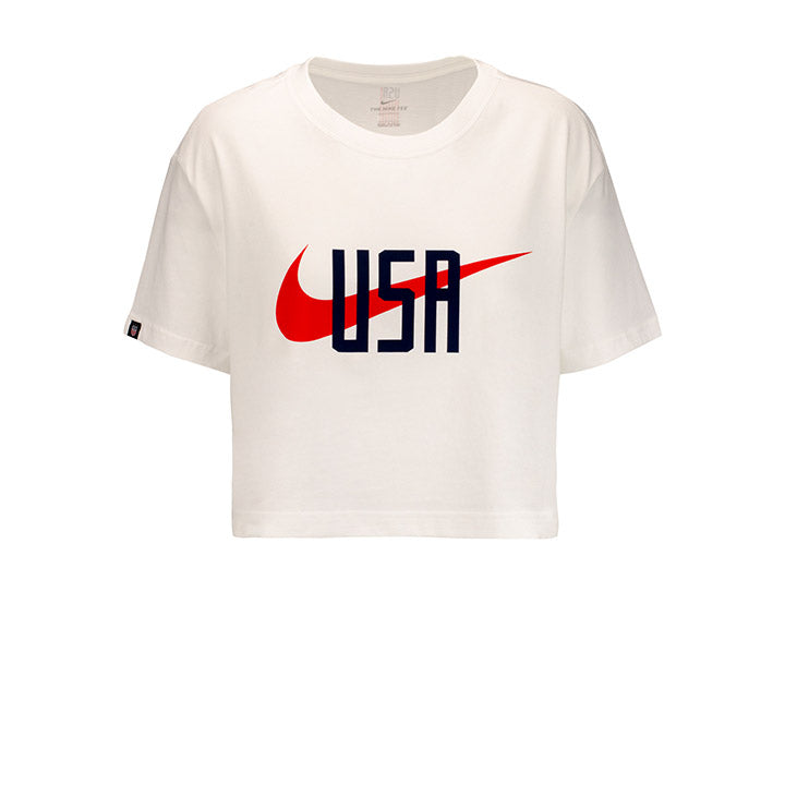 WOMENS USA NIKE SQUAD SS TEE - WHITE