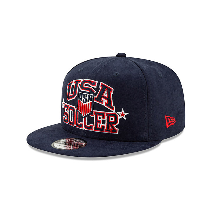 NEW ERA CREST USA 9FIFTY STARRY SUEDE CAP - NAVY
