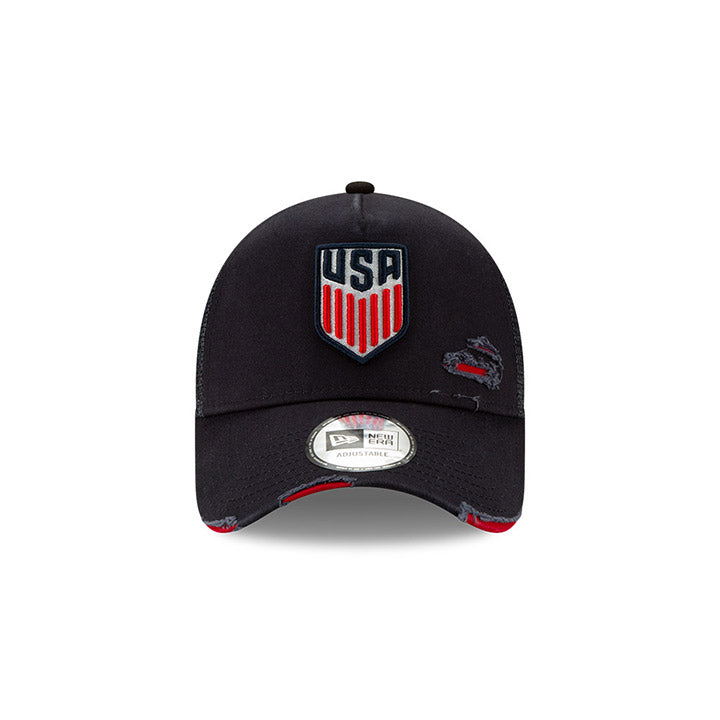 NEW ERA USA CREST 9FORTY TRUCKER DISTRESSED CAP
