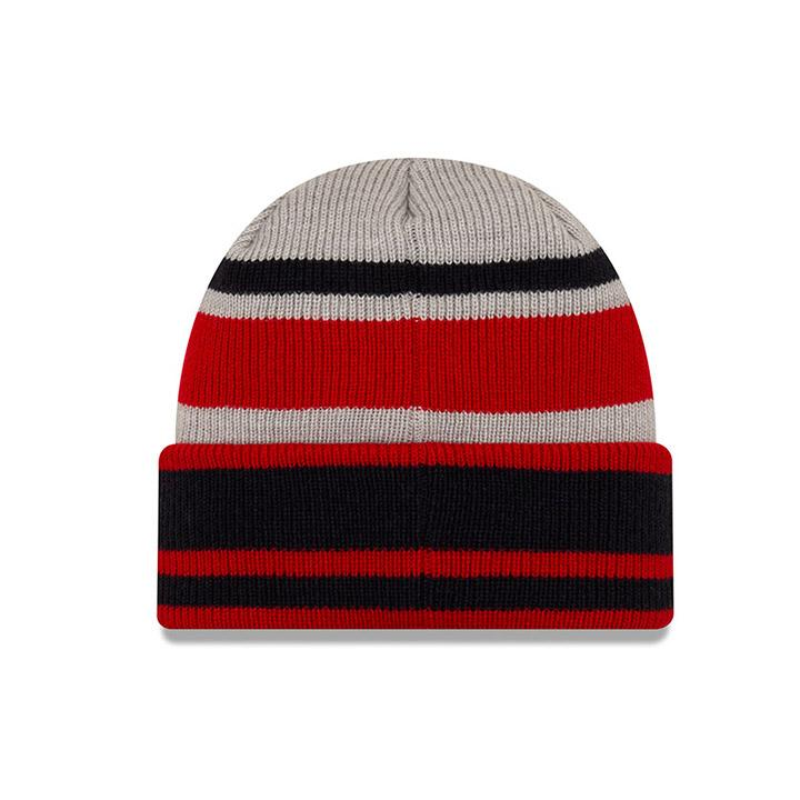 New Era Red/Grey Cuff Beanie
