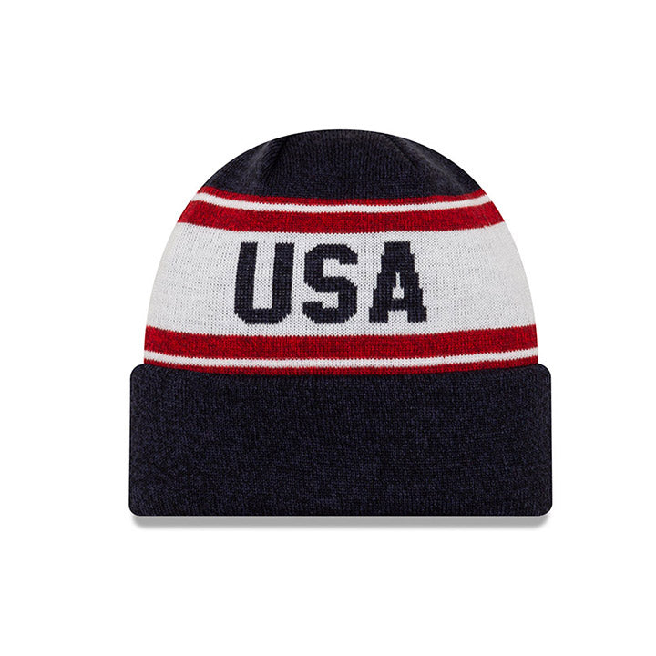 NEW ERA CREST USA KNITSTATED CUFF - NAVY/WHITE