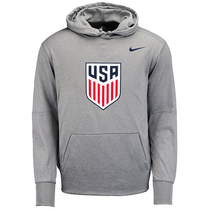 MEN'S NIKE USA CREST THERMA POLY HOODY - GRAY