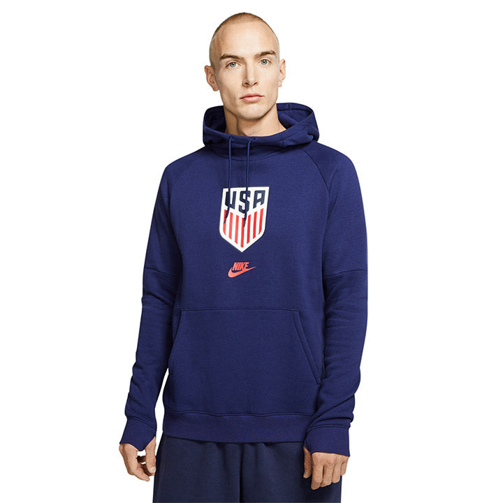 MEN'S NIKE CREST USA FLEECE PULLOVER HOODIE