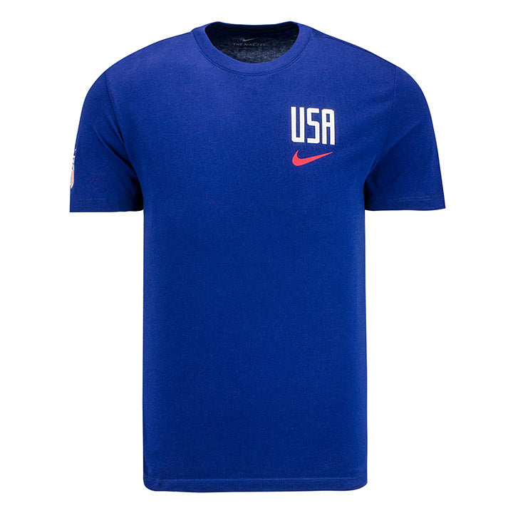 MENS USA NIKE PRIDE CREST SS TEE - BLUE