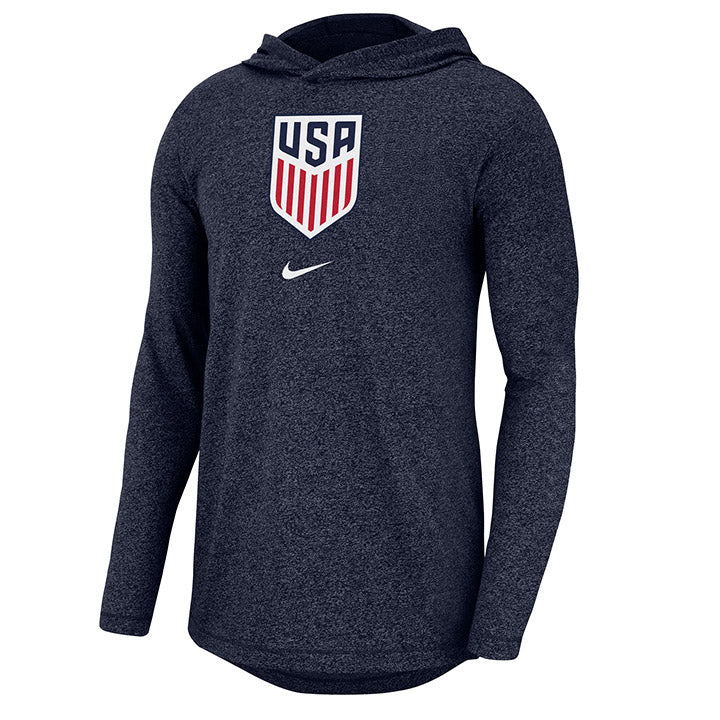 MEN'S NIKE MNT MARLED LONG SLEEVE HOODY