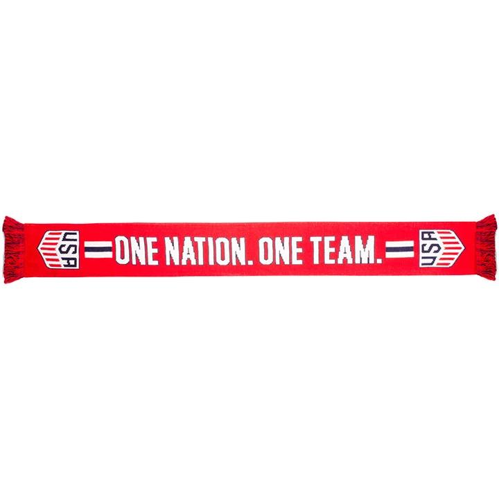 US SOCCER SCARF - RED ONE NATION ONE TEAM