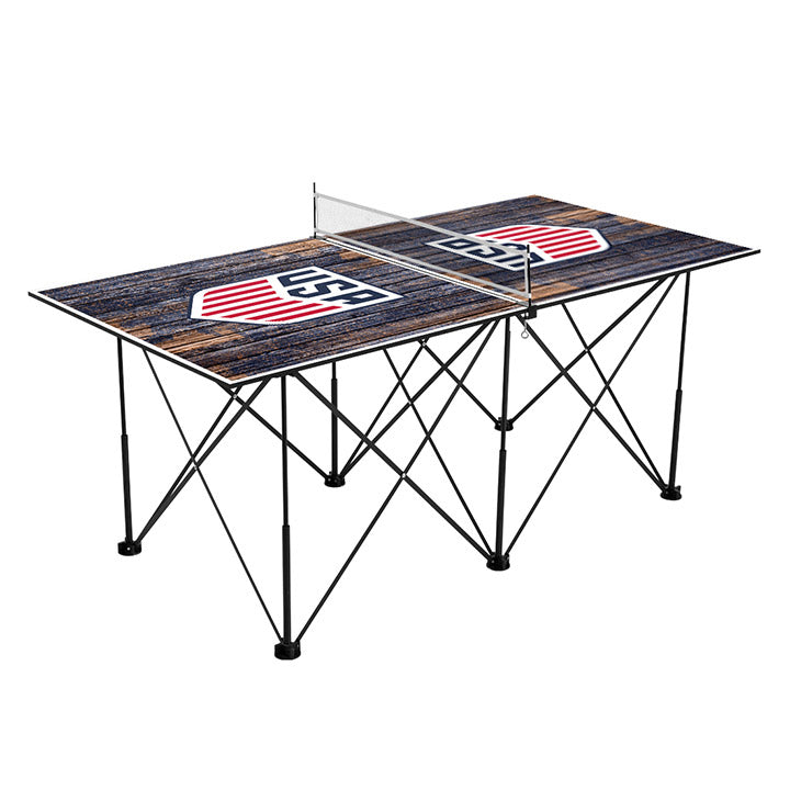 Victory Tailgate 6ft Weathered Pop Up Table Tennis