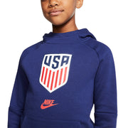 YOUTH NIKE CREST USA FLEECE PULLOVER HOODIE