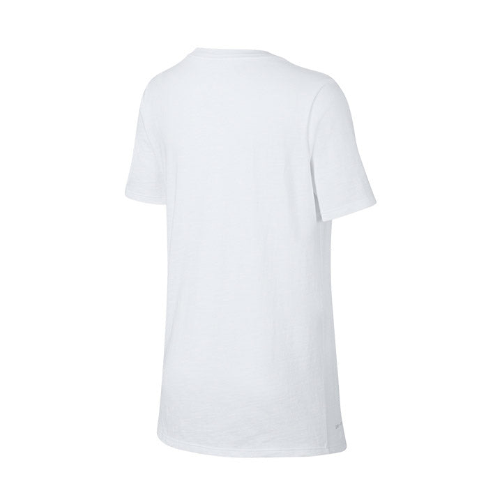 YOUTH NIKE USA SWOOSH SLUB SS TEE - WHITE