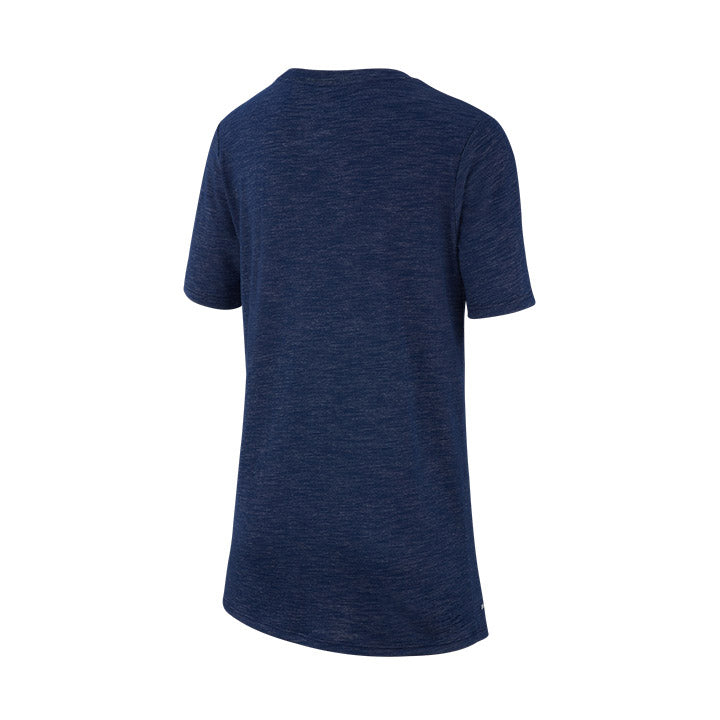 YOUTH NIKE USA SWOOSH SLUB SS TEE - NAVY
