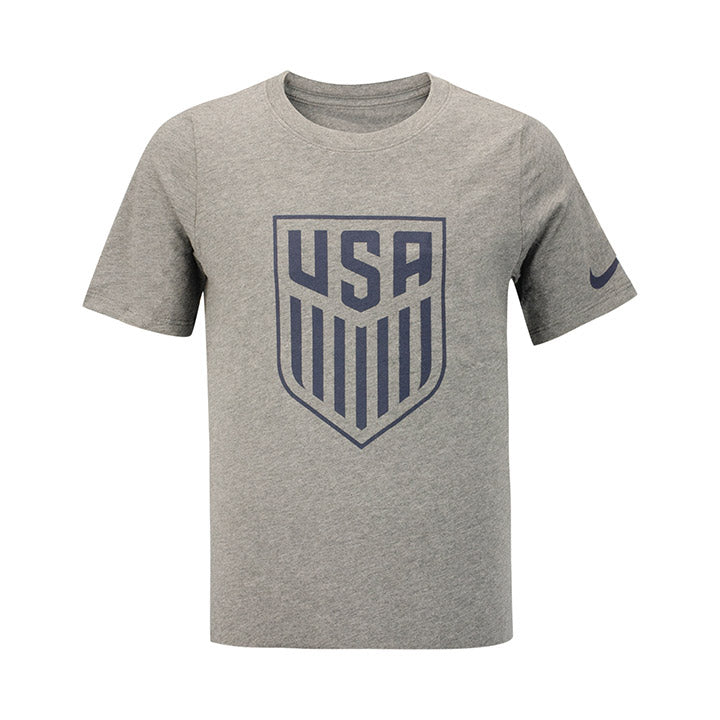 YOUTH NIKE USA CREST T-SHIRT - GRAY