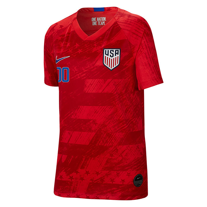 PERSONALIZED YOUTH NIKE USA BREATHE STADIUM RED AWAY JERSEY
