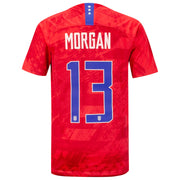 YOUTH NIKE USA BREATHE STADIUM MORGAN 13 AWAY JERSEY - RED