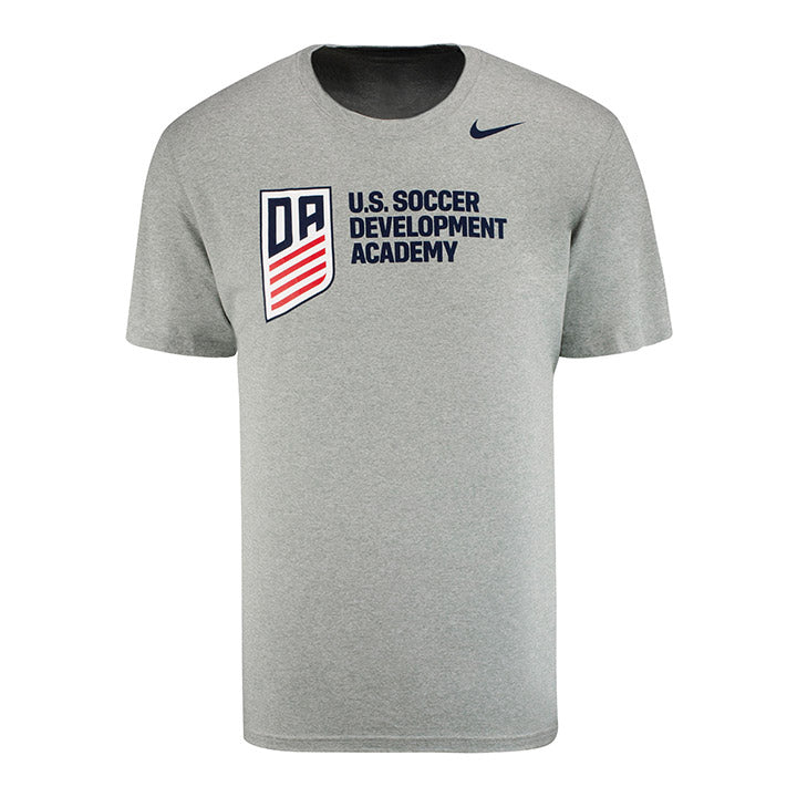 U.S. SOCCER NIKE DEVELOPMENT ACADEMY HORIZONTAL LOGO LEGEND 2.0 SS TEE - D. HEATHER